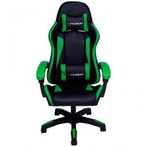 Cadeira Gamer X Fusion C.123 Reclinável Preto/Verde - R$939