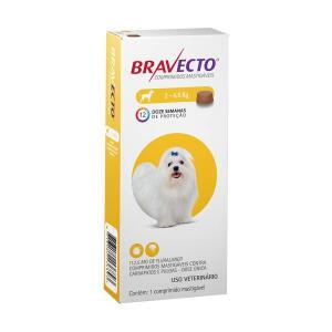 Antipulgas e Carrapatos Bravecto MSD para Cães até 4,5 kg | R$ 81