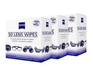 KIT 3 CAIXAS DE 50(unidades) LENS WIPES ou KIT DE 5 CAIXAS DE 30(unidades)| R$110