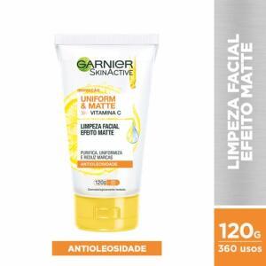 Gel De Limpeza Facial Garnier Skinactive Uniform & Matte 120g | R$13