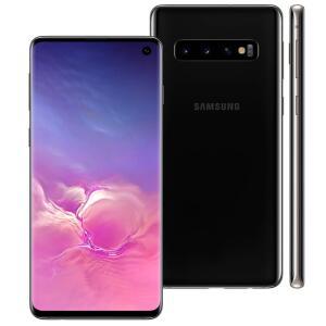 "Smartphone Samsung Galaxy S10 Preto 128GB + 8GB 6.1"" | R$ 2.249"