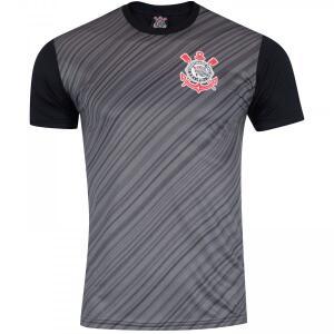 Camisa Corinthians Stroke SCCP Preta e Chumbo | R$25