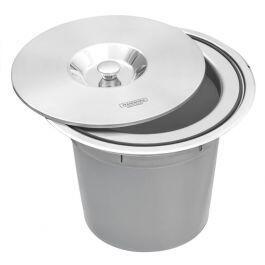 Lixeira de Embutir Aço Inox 8 Litros CLEAN ROUND | R$359