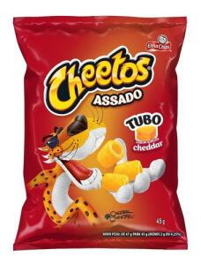 Salgadinho Sabor Queijo Cheddar Elma Chips Cheetos Tubo 45g | R$1,79