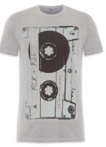 Camiseta Masculina Tape Lado a - Cinza - SPIRITO SANTO | R$49