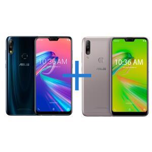 Smartphone ASUS Zenfone Max Pro (M2) 4GB/64GB Black Saphire + Smartphone ASUS Zenfone Max Shot 3GB/64GB (32GB+32GB) Prata R$1.600