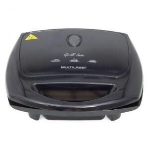 Sanduicheira Grill Multilaser Super Grill Inox 1200W Preto 220V | R$63