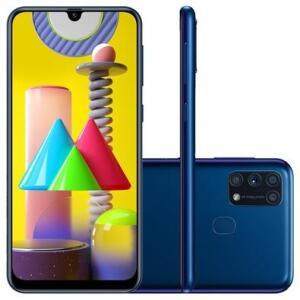 Samsung Galaxy M31, 128GB, 64MP, Tela 6.4´, Azul | R$1.424