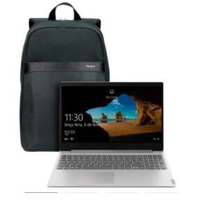 "[Parcelado] Notebook Lenovo Ideapad S145 R5 12GB 1TB W10 15.6"" Prata + Mochila Targus Geolite Essential (R$ 3.199,99)"