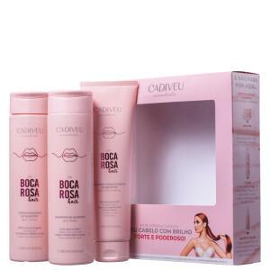 Kit Cadiveu Professional Boca Rosa Hair Limpeza & Cuidados Diários | R$ 60