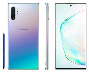"[R$2.992 Cliente Ouro] Smartphone Samsung Galaxy Note 10+ 256GB Prata 4G-12GB RAM 6,8"""