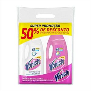 [PRIME+Rec] Tira Manchas Multiuso Líquido Com 1 Pink e 1 Crystal White, Vanish | R$ 21