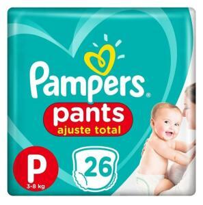 [APP] Kit 4 fraldas pampers pants P 104 unidades | R$68