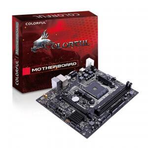 Placa Mãe Colorful A320M-K PRO V14, Chipset A320, AMD AM4, MATX, DDR4 | R$349