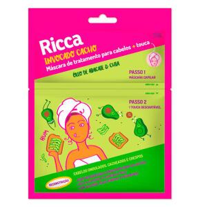 Máscara de Tratamento Ricca Reconstrução Óleo de Abacate e Chia 30g | R$ 5