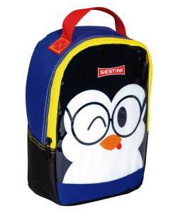 Lancheira Pequena Sestini Kids Basic Pinguim Colorido | R$11