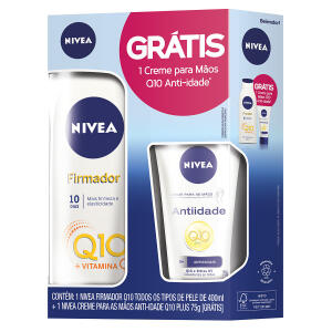 Hidratante Nivea Firmador Q10 Loção 400ml + Creme Para Mãos Nivea Anti-Idade Q10 75g | R$28