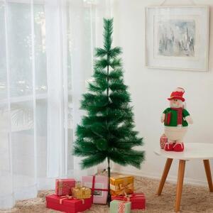 Árvore tradicional flocada 1,4m, 53 galhos - Orb Christmas R$42