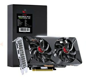Placa de Vídeo PCYes, GeForce RTX 2060 Dual OC, 6GB, GDDR6, 192Bit,   R$ 2279