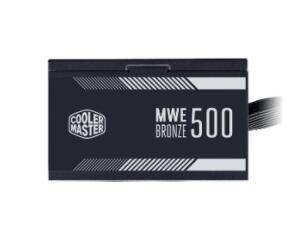 FONTE COOLER MASTER MWE 500 80 PLUS BRONZE, MPE-5001-ACAAB-BR | R$ 436