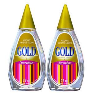 Kit de adoçante liquido Gold R$6