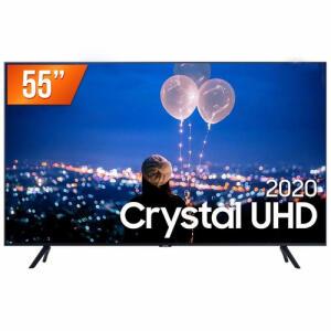 "(Cc shoptime+cupom) Smart TV LED 55"" Ultra HD 4K Samsung 55TU8000 Crystal | R$2348"