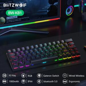 Teclado Mecânico BlitzWolf® BW-KB1 Bluetooth   R$296
