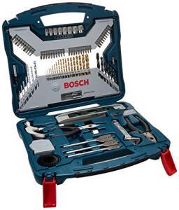 Kit de Pontas e Brocas em Titânio Bosch X-Line 103 peças | R$190