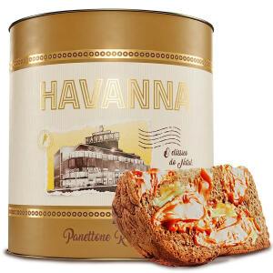 Panettone Havanna Lata 550g Nozes e Doce de Leite | R$ 85
