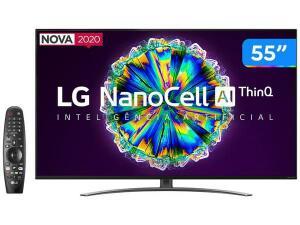 "Smart TV 4K NanoCell IPS 55"" LG 55NANO86SNA - R$3609"