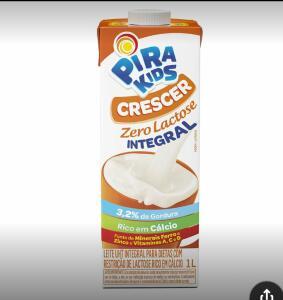 Leite Integral Crescer Zero Lactose Pirakids 1L   R$3