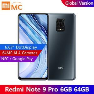 Smartphone Xiaomi Redmi Note 9 Pro NFC 6GB RAM + 64GB   R$ 1216