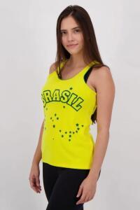 Regata Brasil Araguaia Feminina Amarela | R$ 9