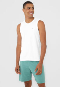Pijama Malwee Liberta Logo Branco/Verde R$40