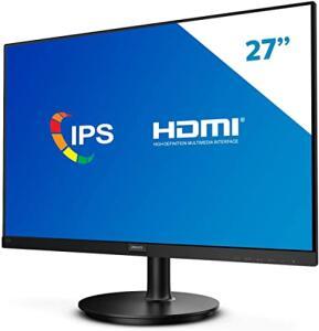 "Monitor Philips 27"" Full HD IPS Widescreen HDMI Bordas Ultrafinas 272V8A R$949"