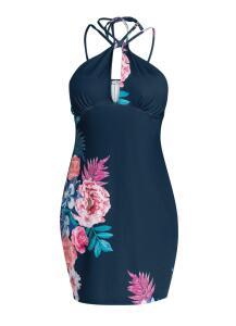 Vestido de Alcinhas Estampado Floral Azul | R$50