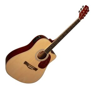 Violão Elétrico Memphis Tagima Folk MD 18 NS Aço Natural Satin | R$469