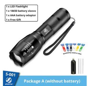 Lanterna V6 Led Ultra Brilhante - 5 modos, à prova de àgua | R$43