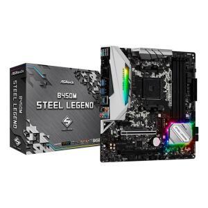 PLACA MAE ASROCK B450M STEEL LEGEND DDR4 SOCKET AM4 CHIPSET AMD B450 | R$739