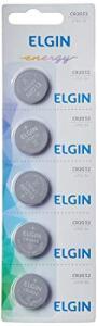 (PRIME)Elgin CR2032, Bateria de Litio 3V, Blister com 5 Baterias | R$11
