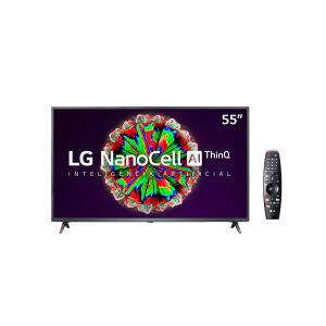 "Smart TV Nanocell 55"" LG NANO79SNA UHD 4K IPS WI-FI, Bluetooth, HDR 10 PRO, Thinq AI, Google Assistente, Alexa | R$ 2799"