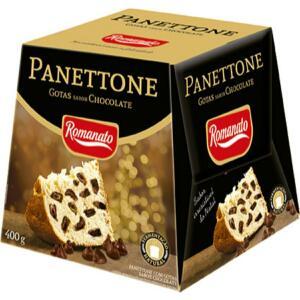 Panetone Gotas de Chocolate Romanato 400g | R$7