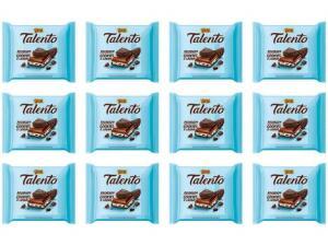 [Cliente Ouro] Barra Chocolate Talento Ao Leite com Cookies e Cream 90g 24 Unidades - R$ 2,95 a unidade