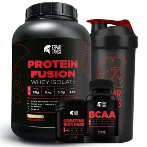 Kit Whey Protein Fusion + Bcaa + Creatina + Shaker | R$100