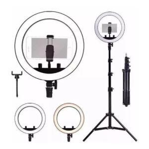 [app] Kit Completo Ring Light 10 Polegadas Com Tripé 2,1 Metro | R$ 93