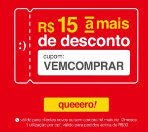 Cupom Americanas R$ 15,00