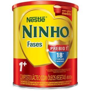 3 x Composto lácteo Ninho 1+ 800g R$12,65