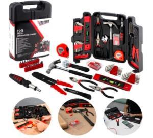 [AME R$52] kit de Ferramentas Fasterr 129 peças Bits e Chaves emergênciais R$84