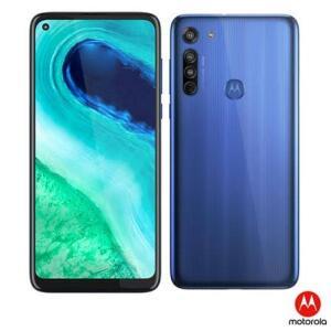 "(APP + Cliente Ouro) Smartphone Motorola Moto G8 64GB Azul Capri 4G-4GB RAM Tela 6,4"" - R$ 921"