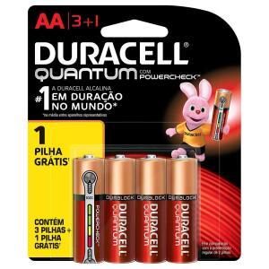 Pilha Duracell Alcalina Pequena AA Quantum Leve 4 Pague 3 - Embalagem com 4 unidades | R$19 | APP